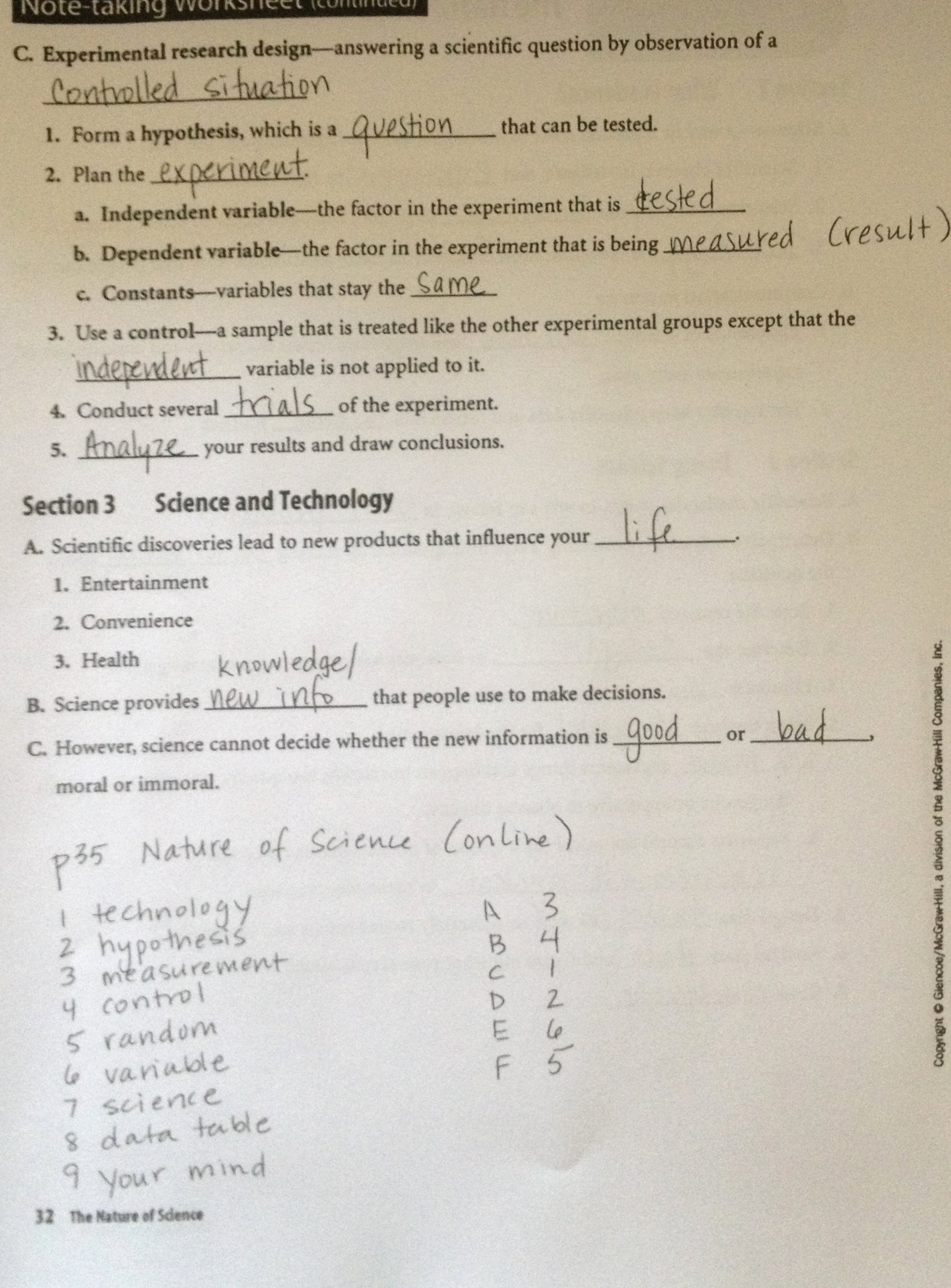 Nova Hunting the Elements Worksheet Luxury Note Taking Worksheet Glencoe Science Cell Note Best