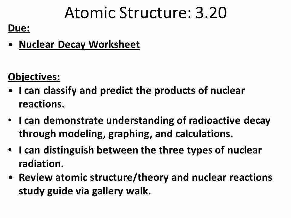 Nuclear Chemistry Worksheet Answer Key New Nuclear Decay Worksheet Answers