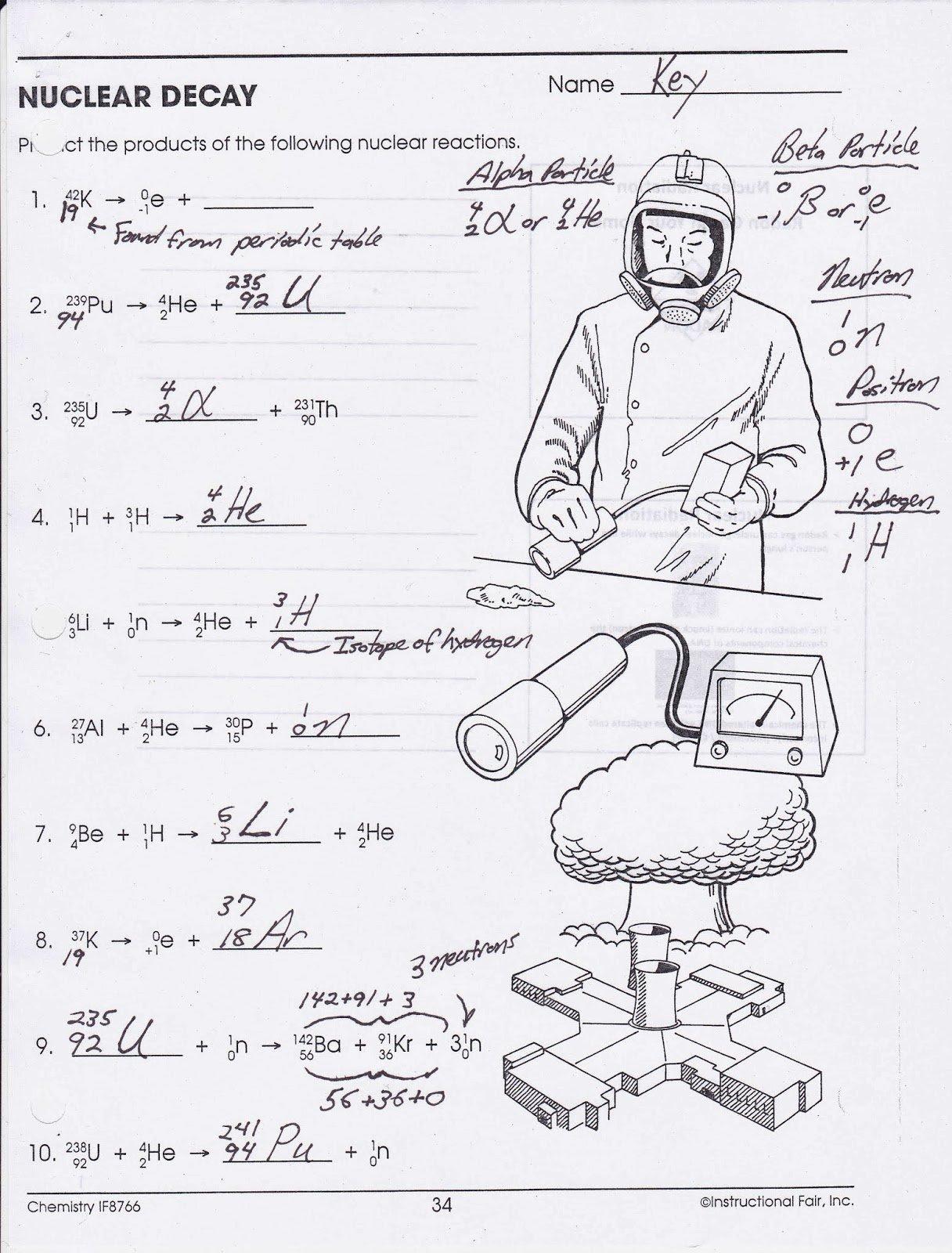 Nuclear Chemistry Worksheet K Luxury Nuclear Decay Reactions Worksheet Sidan Kunde Inte Hittas