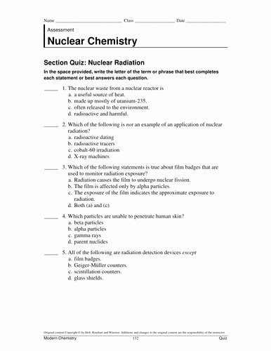Nuclear Decay Worksheet Answer Key Awesome Nuclear Chemistry Worksheet Answer Key Livinghealthybulletin