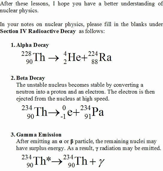 Nuclear Decay Worksheet Answer Key Lovely Radioactive Decay Worksheet