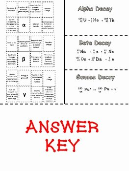 Nuclear Decay Worksheet Answer Key Luxury Radioactive Decay Foldable by Sandy S Science