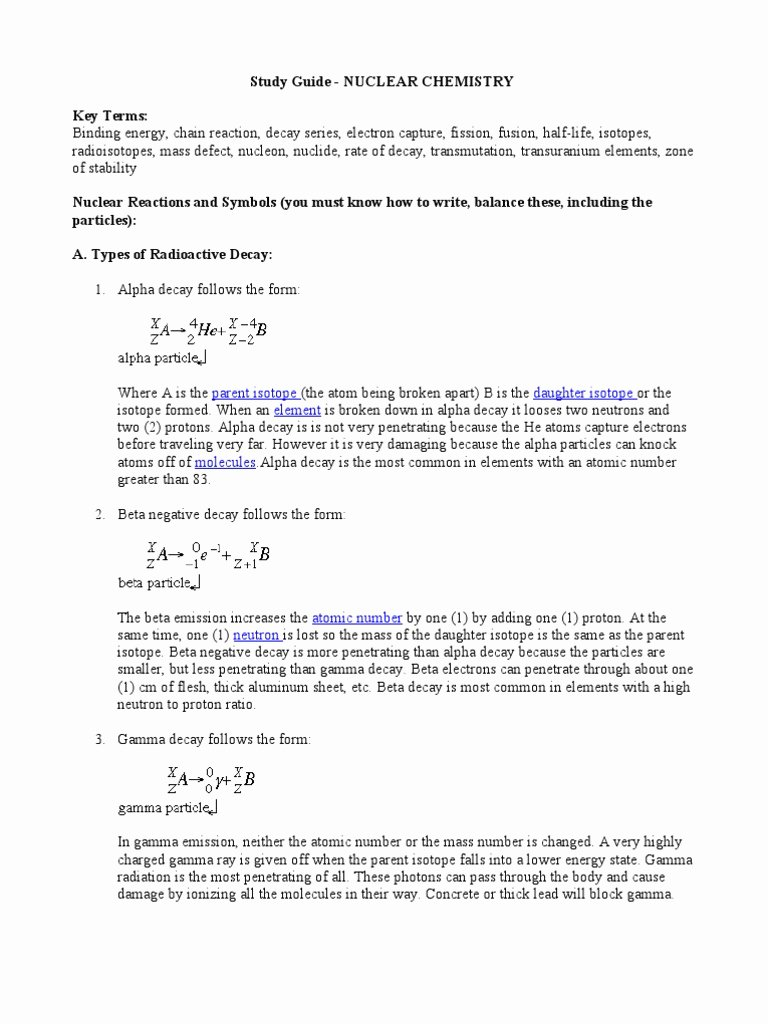 Nuclear Decay Worksheet Answers Chemistry Best Of Nuclear Fission and Fusion Worksheet Answers