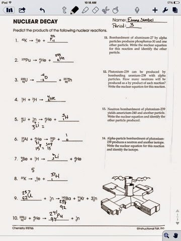Nuclear Decay Worksheet Answers Chemistry Inspirational Chemistry assignments Nuclear Chemistry Worksheets