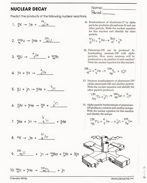 Nuclear Decay Worksheet Answers Key Beautiful tom Schoderbek Chemistry Nuclear Decay Half Lives Worksheet