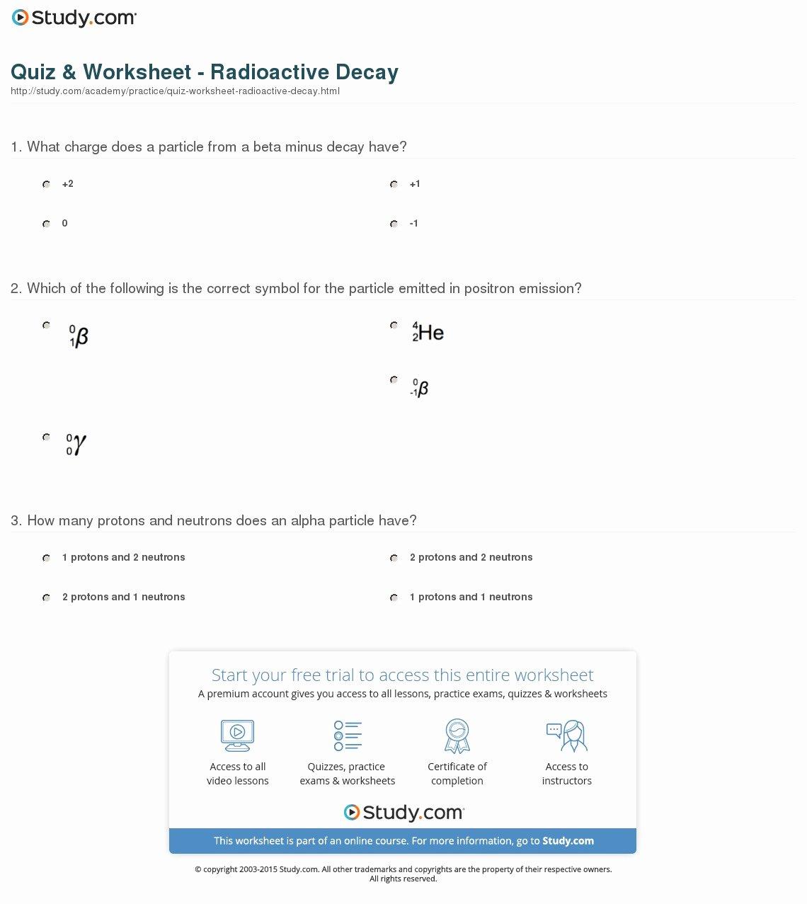 Nuclear Decay Worksheet Answers Key Fresh Nuclear Decay Equations Worksheet Worksheets Tutsstar