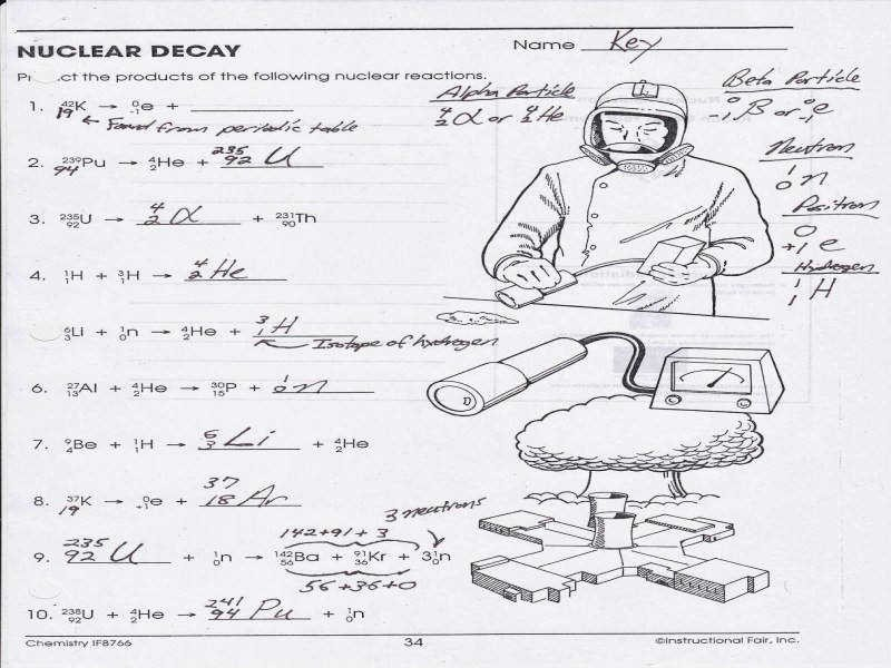Nuclear Decay Worksheet Answers Key Fresh Nuclear Decay Worksheet Answers