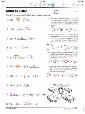 Nuclear Decay Worksheet Answers Key Fresh Nuclear Decay Worksheet Answers
