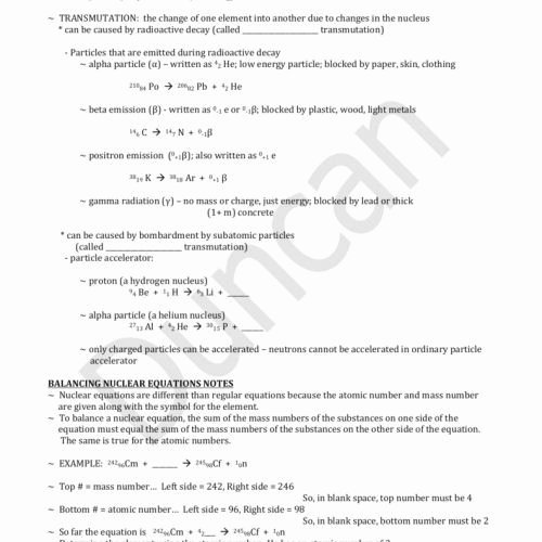Nuclear Reactions Worksheet Answers Lovely 24 Unique Balancing Nuclear Equations Worksheet Answers