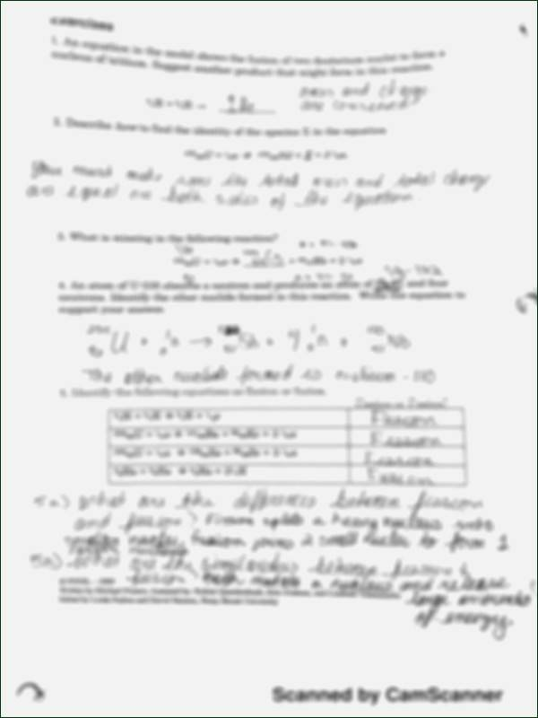 Nuclear Reactions Worksheet Answers Luxury Nuclear Reaction Worksheet