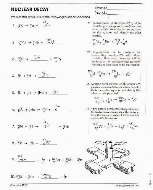 Nuclear Reactions Worksheet Answers New Balancing Nuclear Equations Worksheet
