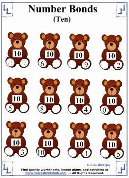 Number Bonds to 10 Worksheet Elegant 17 Best Images About Number Bonds On Pinterest