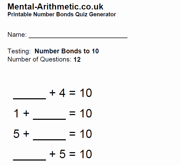 Number Bonds to 10 Worksheet Elegant Help with Number Bonds to Ten Games and Tips