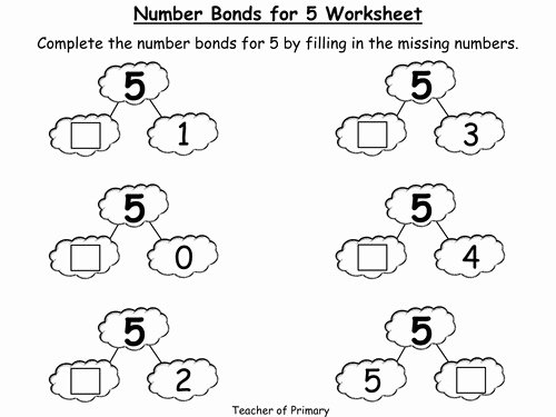 Number Bonds to 10 Worksheet Lovely Number Bonds Worksheets