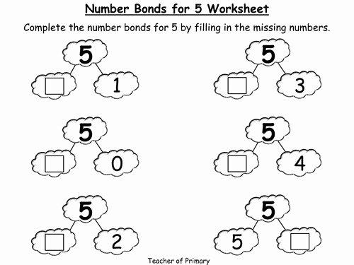 Number Bonds to 10 Worksheet Lovely Number Bonds Worksheets