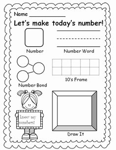 Number Of the Day Worksheet Awesome 1000 Images About Number Of the Day Week On Pinterest