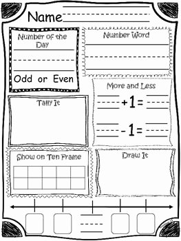 Number Of the Day Worksheet Awesome Kindergarten Number Of the Day Kindergarten