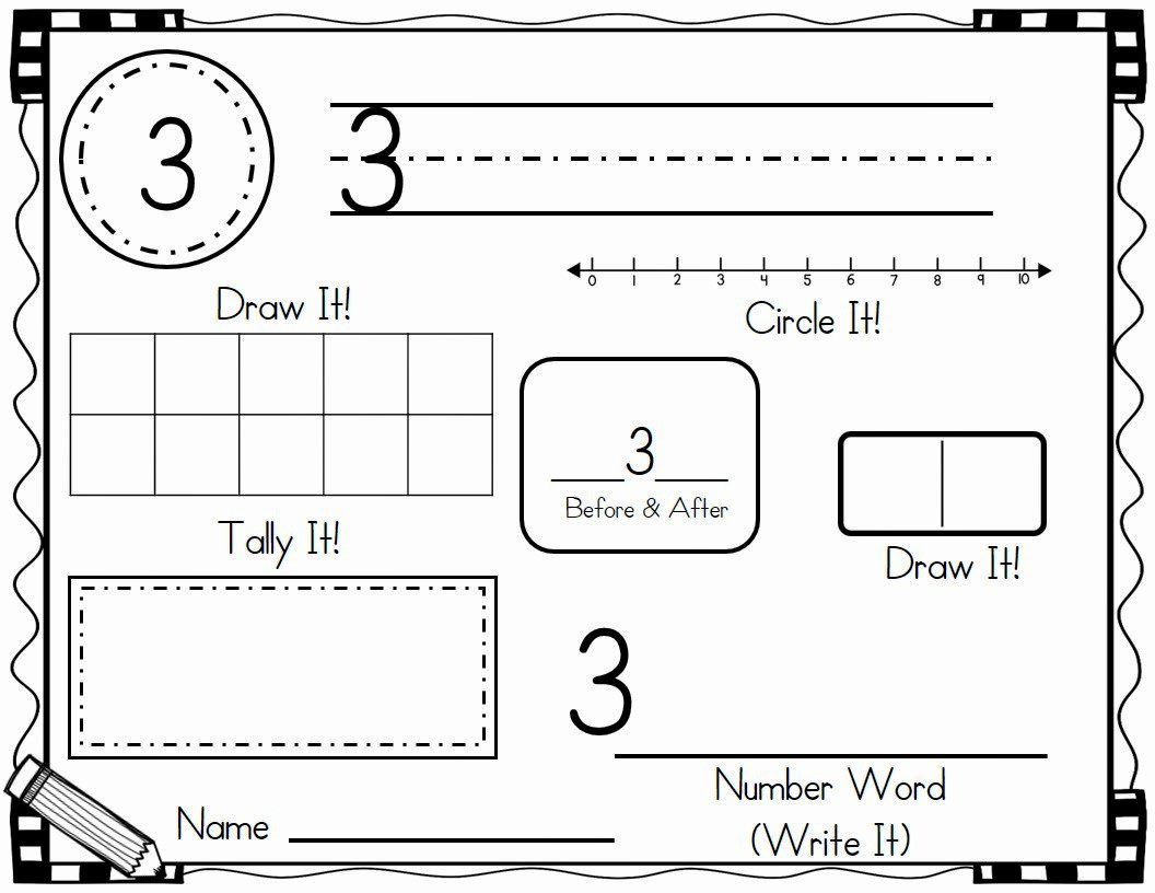 Number Of the Day Worksheet Awesome New Kindergarten Teaching Materials