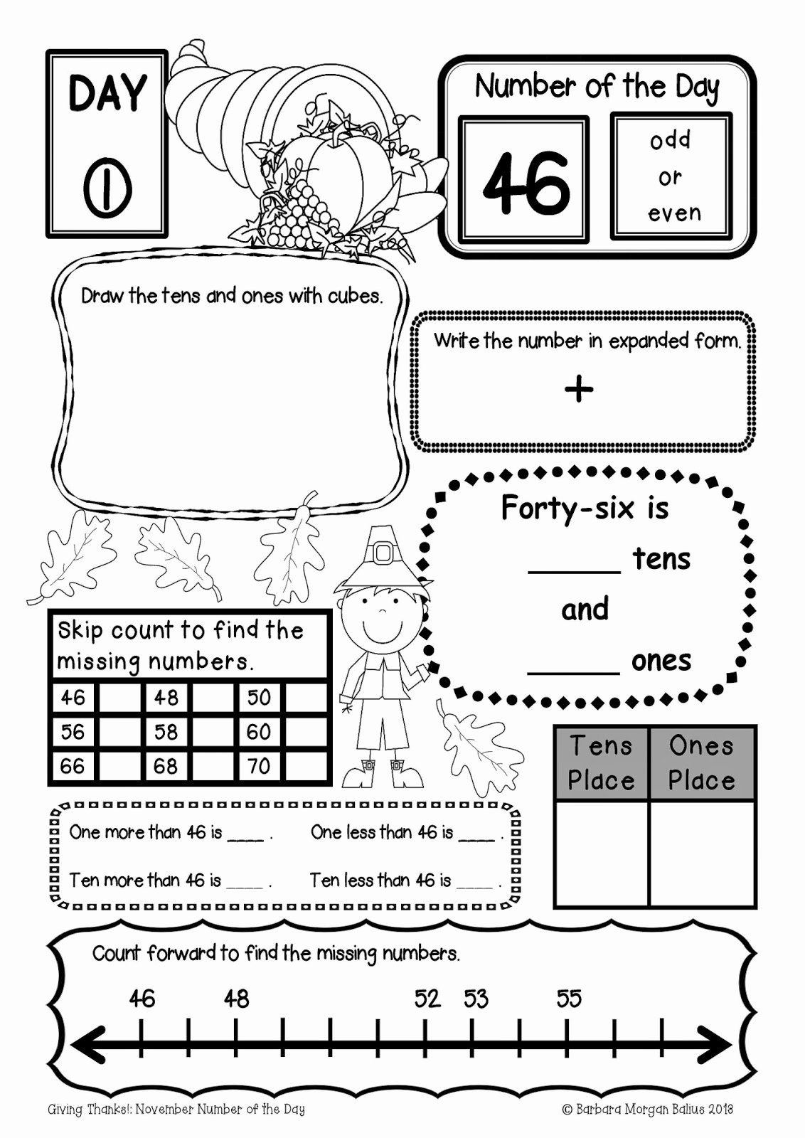 Number Of the Day Worksheet Best Of Deep In the Heart Of Texas Blog Hop Mrs Balius Teaching