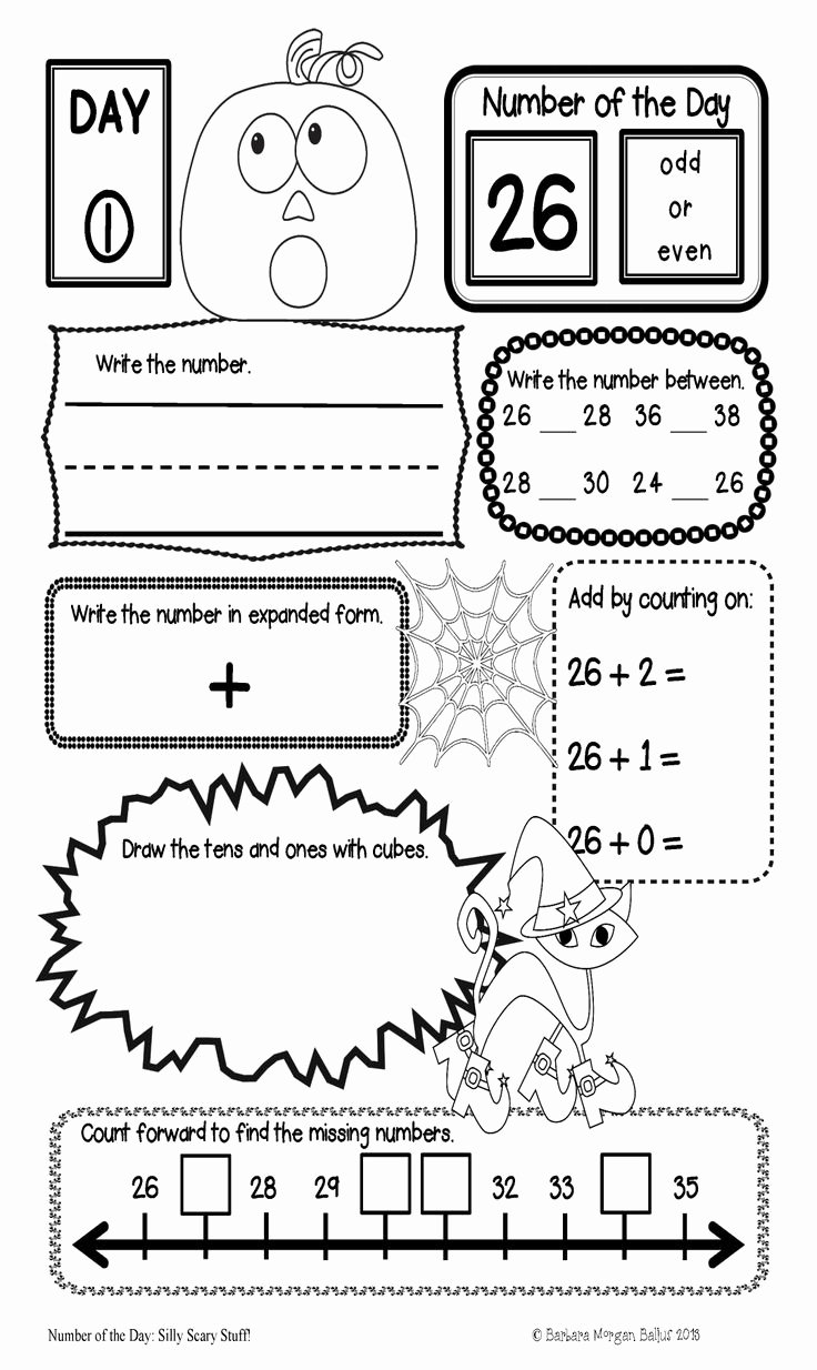 Number Of the Day Worksheet Best Of First Grade Math Place Value Bundle Number Of the Day