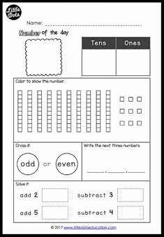Number Of the Day Worksheet Best Of Printable Weekly assignment Sheet