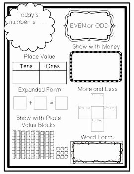 Number Of the Day Worksheet Best Of This Free Contains A One Page Number Of the Day