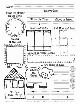 Number Of the Day Worksheet Elegant Daily Math and Number Of the Day Recording Sheet by