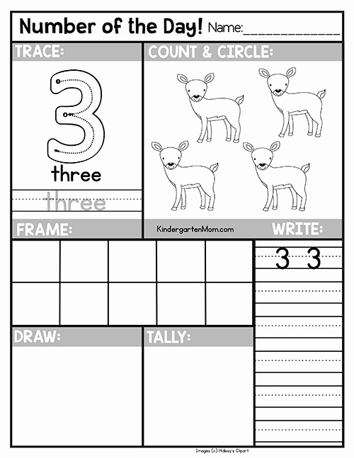Number Of the Day Worksheet Inspirational Free Number Of the Day Worksheets Kindergarten Mom