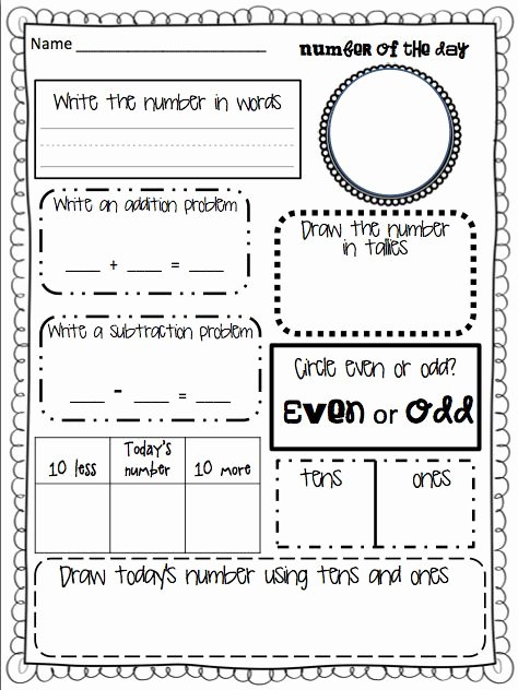 Number Of the Day Worksheet Inspirational Of the Day Great Ice Breaker for Math for My Grade 2s
