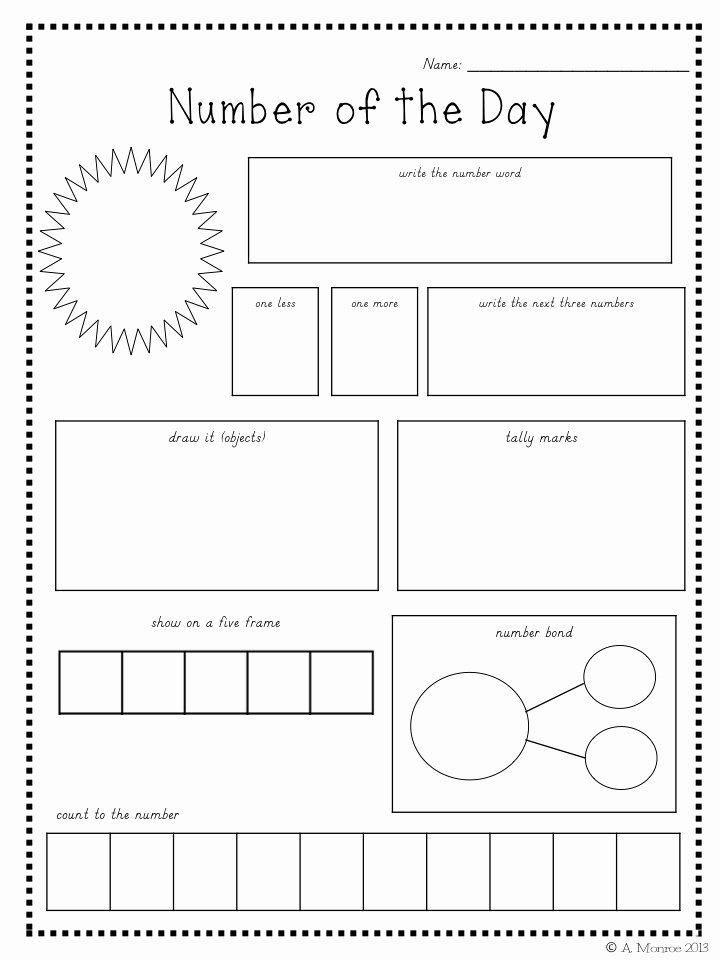 Number Of the Day Worksheet Inspirational School is A Happy Place Number Of the Day for the Year