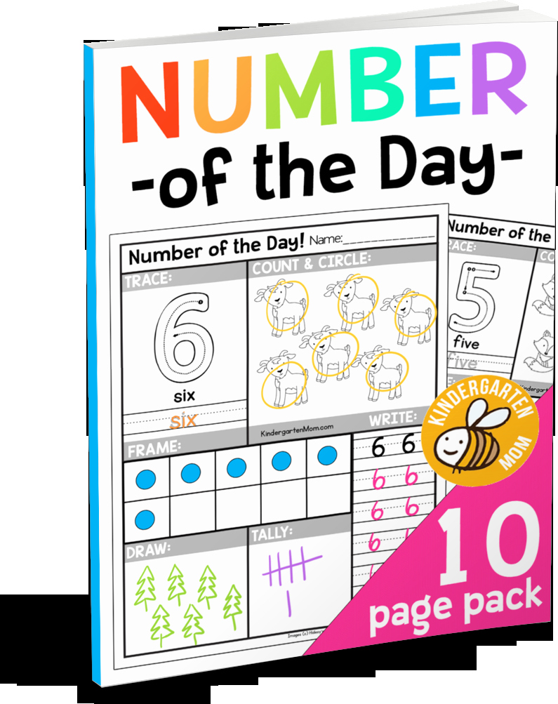 Number Of the Day Worksheet Unique Free Number Of the Day Worksheets Kindergarten Mom
