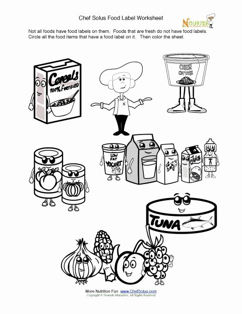 Nutrition Label Worksheet Answer Beautiful Printable Fun Food Label Activity & Coloring Sheet