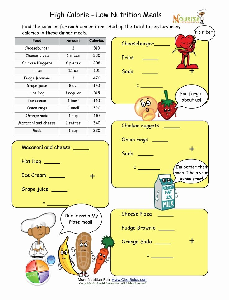 Nutrition Label Worksheet Answer Lovely 30 Best Nutrition Worksheets and Games Images On Pinterest
