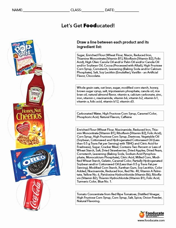 Nutrition Label Worksheet Answer Luxury Fun Nutrition Worksheets for Kids