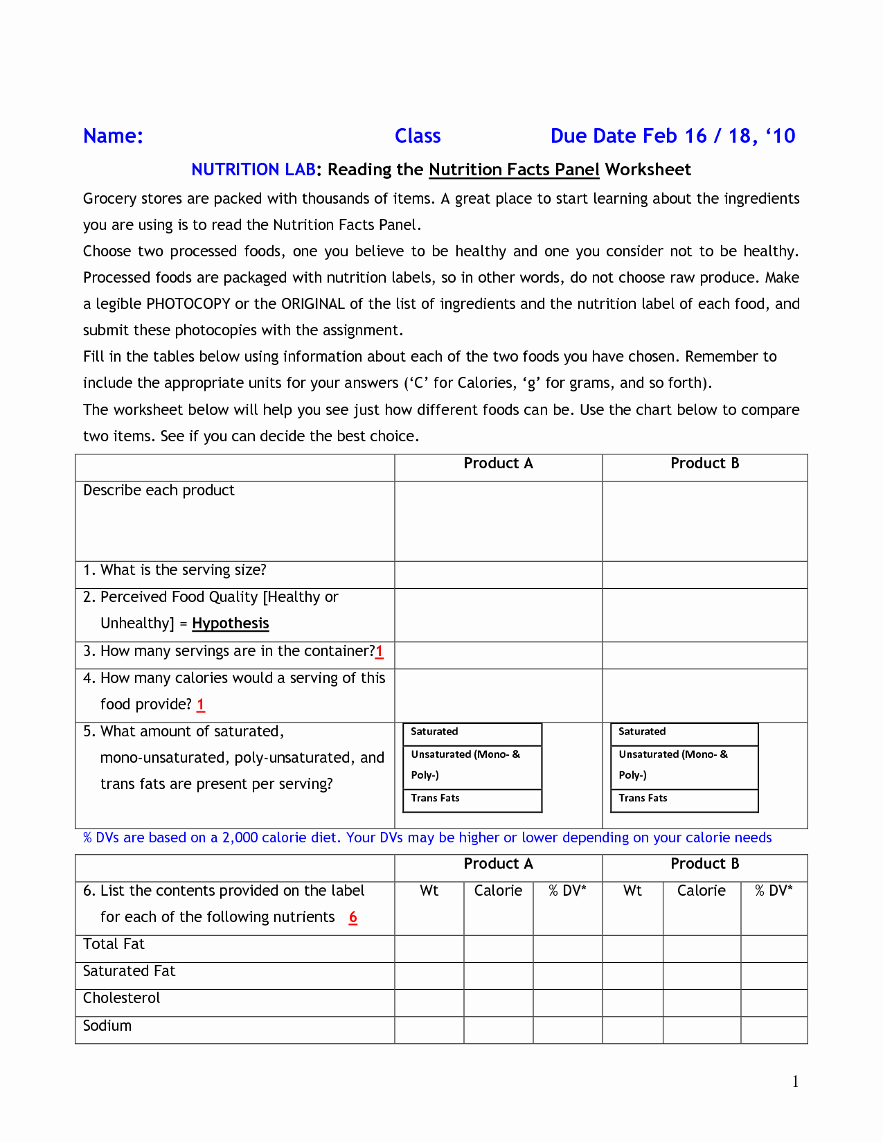 Nutrition Label Worksheet Answers Awesome 15 Best Of Food Label Worksheet Food and