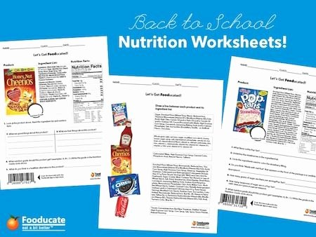 Nutrition Label Worksheet Answers Awesome Fun Nutrition Worksheets for Kids Teach Your Kids to