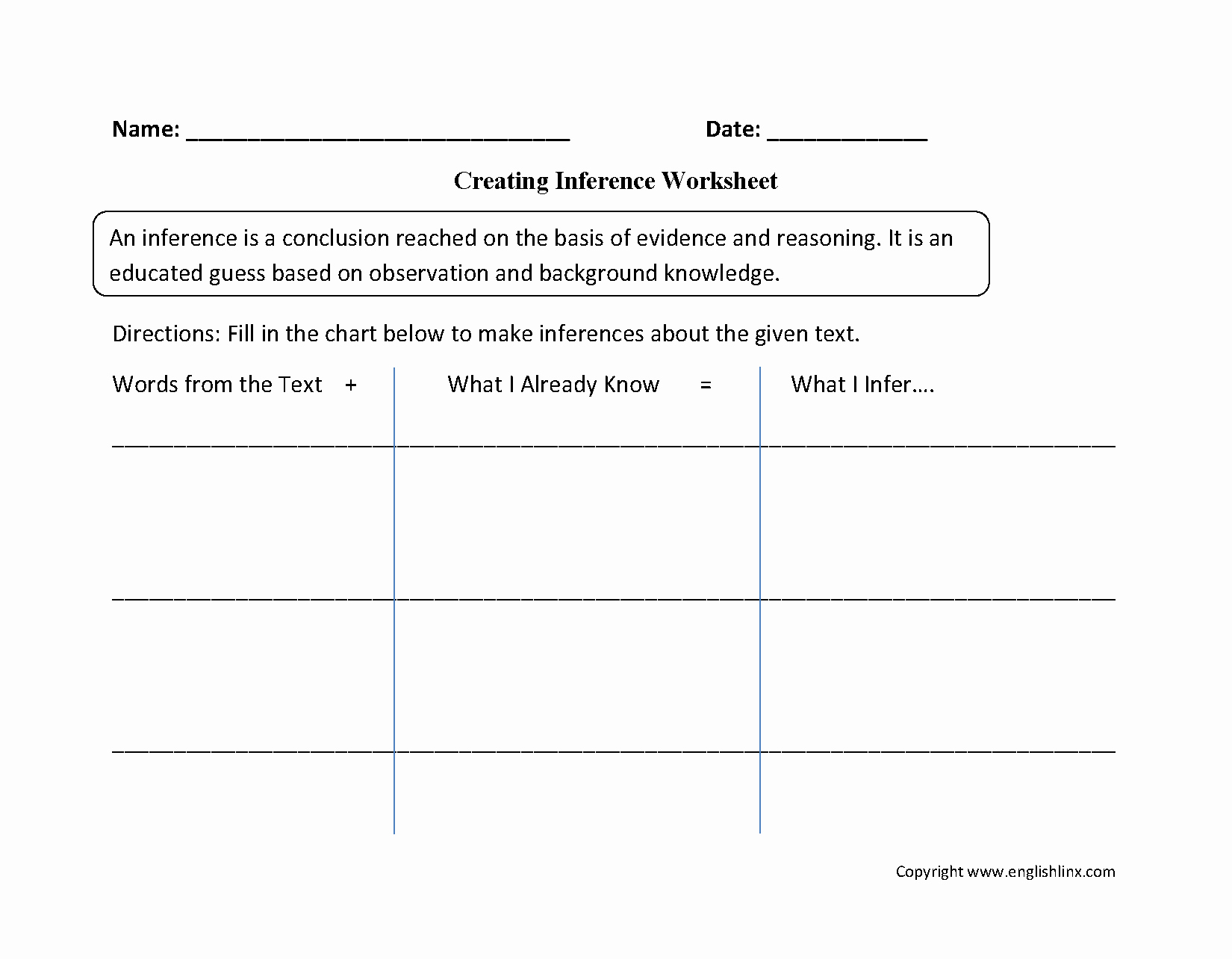 Observation and Inference Worksheet Elegant Creating Inference Worksheets