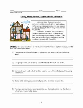 Observation and Inference Worksheet Inspirational Safety Measurement Observation & Inference Worksheet by