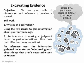 Observation and Inference Worksheet New Observation & Inference Interactive Notebook Activity with