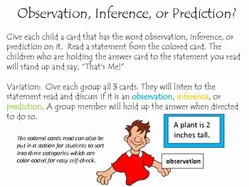 Observation Vs Inference Worksheet Awesome A Fun Activity to Help Students Identify A Statement as An