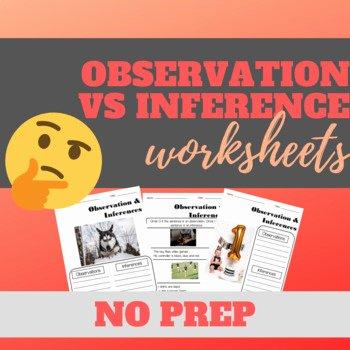 Observation Vs Inference Worksheet Awesome Observation Vs Inference Worksheets by Fireflies and Hot