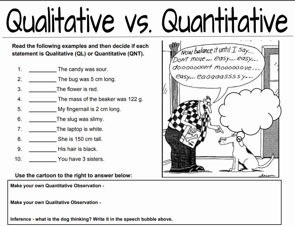 Observation Vs Inference Worksheet Best Of Qualitative Vs Quantitative Observations Worksheet