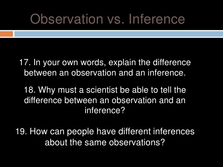 Observation Vs Inference Worksheet Fresh 1 Activity 1 Inquiryobservinference