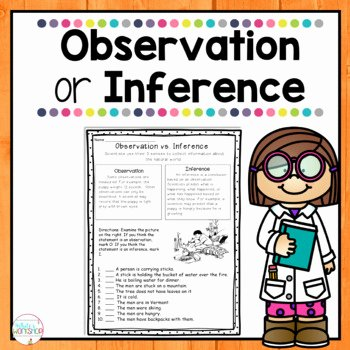 Observation Vs Inference Worksheet Inspirational Observations Vs Inferences by White S Workshop
