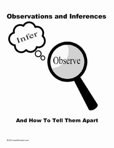 Observation Vs Inference Worksheet Luxury Observations Vs Inferences White S Workshop