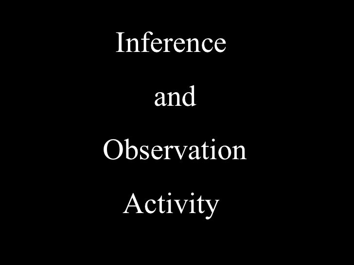 Observation Vs Inference Worksheet New Inference and Observation Activity
