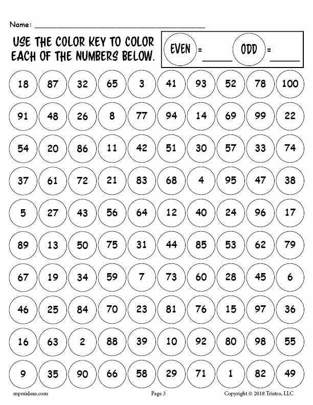 Odd and even Numbers Worksheet Best Of Free Printable 100th Day Of School Odd and even Numbers