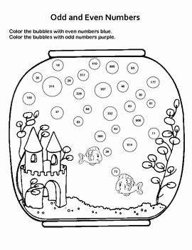 Odd and even Numbers Worksheet Elegant Odd and even Numbers Fun Fish Tank Worksheet
