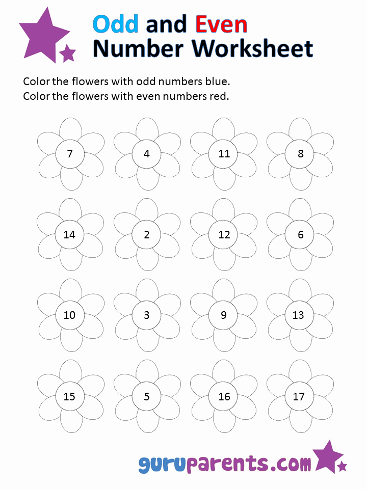 Odd and even Numbers Worksheet Fresh Odd and even Number Worksheets
