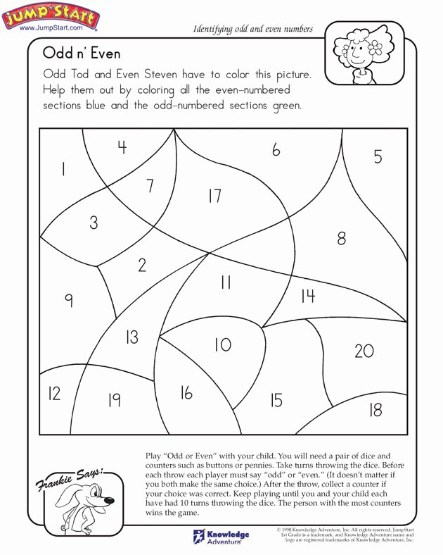 Odd and even Numbers Worksheet Inspirational Odd N' even View – Math Worksheet On Odd & even – Jumpstart